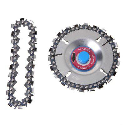 4 Inch 22 Tooth Grinder Chain Disc Wood Carving Disc For 100/115MM Angle Grinder