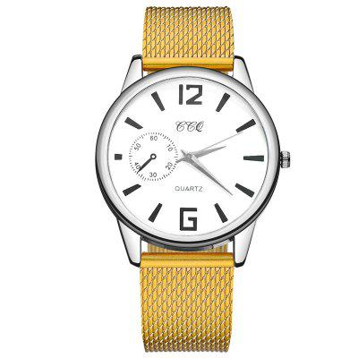 Women'S Simple Fashion Plastic Mesh with Scale Dial Watch Quartz Watch
