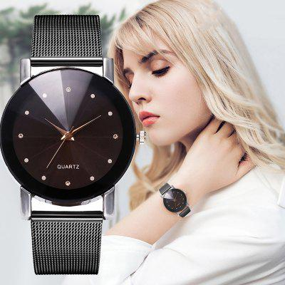 Women'S Simple en modieuze legering Mesh riem quartz horloge