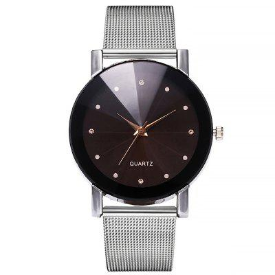 Women'S Simple and Fashionable Alloy Mesh Belt Quartz Watch