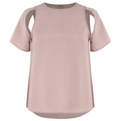 Stylish and Simple Personality Sexy Round Neck T-Shirt