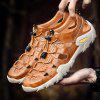 MORIYUKI Summer Large Size Non-Slip Outdoor Sports Beach Hollow Sandals for Men - CARAMEL