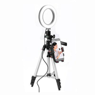Cell Phone Holder Beauty Lamp Makeup Mirror LED Photography Light