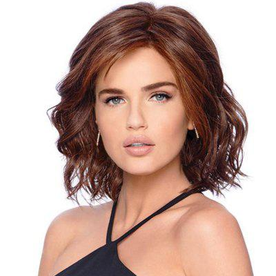 Synthetic Wig Curly Style Side Part Capless Wig
