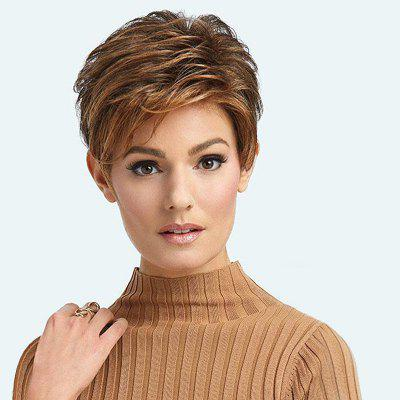 Fashionable Synthetic Curly Style Side Part Capless Wig