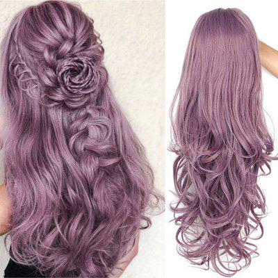 Synthetic Curly Style Middle Part Lace Front Romantic Wig Long Natural