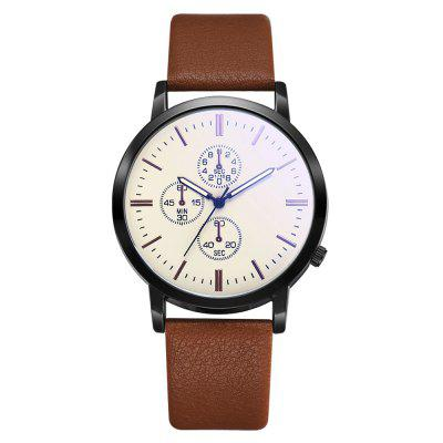 Xr3300 Men'S Business Leather Watch Trendy Blu-Ray Mirror Watch