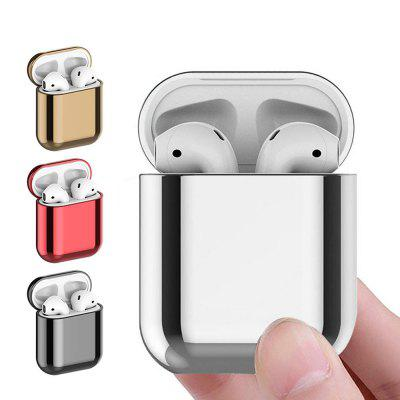 Earphone Protective Case Skin Cover for AirPods 2 / 1 Plating PC Storage Box