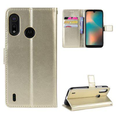Crazy Horse PU Leather Phone Case For Moto P40 Play