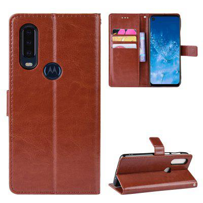 Crazy Horse PU Leather Phone Case For MOTO P40 POWER