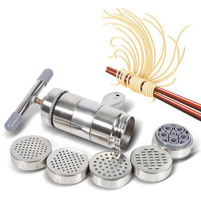 Stainless Steel Manual Noodles Press Machine Pasta Maker with 5 Mould