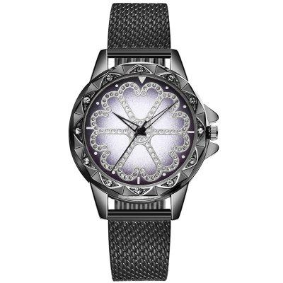 New Ladies Fashion Snowflake Surface Steel Strip Diamond Watch