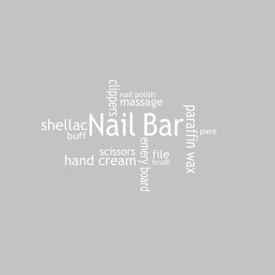Nail Shop Decoration Home Background Wall Decoration Sticker
