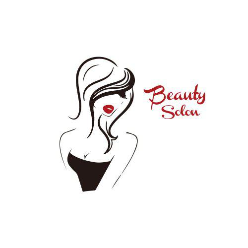 Home Room Decoration PVC Wall Sticker Beauty Salon Girl Face Decal Practical