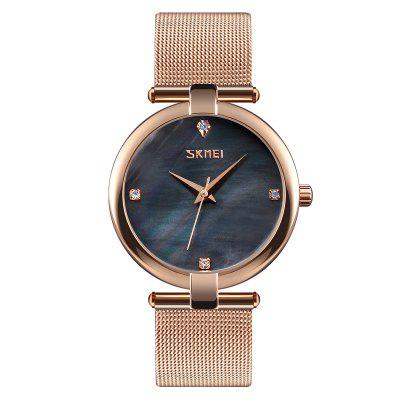SKMEI 9177 Fashion Women Watches Waterproof Simple Stainless Steel Classic
