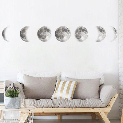 Space Moon Removable PVC Window Film Wall Sticker