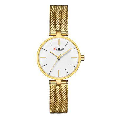 Simple Fashion Stainless Steel Mesh with Waterproof Thin Quartz Girl Watch