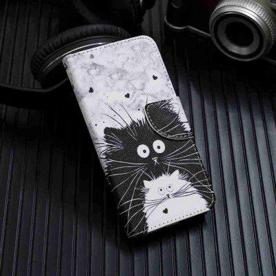 Black and White Cat Painting Phone Case for Xiaomi Redmi Note 7 / Note 7 Pro