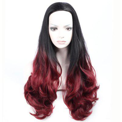 Fashionable Design Synthetic Curly Style Middle Part Capless Wig