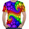Trend New Colorful Ball 3D Printed Short-Sleeved T-Shirt - MULTI