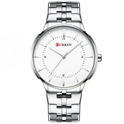 Sleek Minimalist Stainless Steel with Waterproof Quartz Men'S Watch
