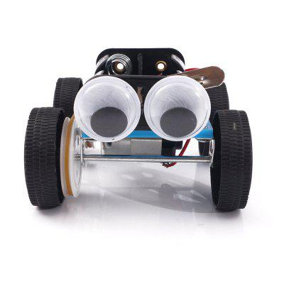 DIY Belt Four-Wheel Drive Car Child Science Education Toy