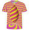 3D Summer Three-Dimensional Square Print Men's Short-Sleeved T-shirt - MULTI-F