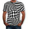 3D Summer Three-Dimensional Square Print Men's Short-Sleeved T-shirt - MULTI-H