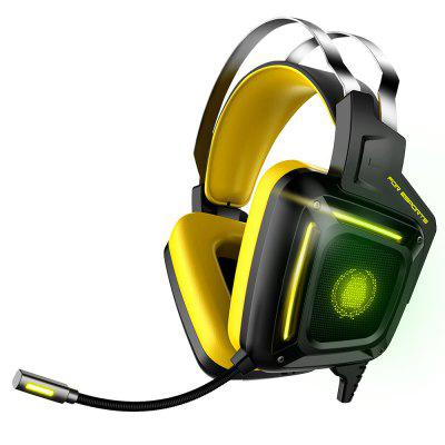 G808 Gaming Headset 3.5 Stereo Version with Cool LED Light Soft Earmuff