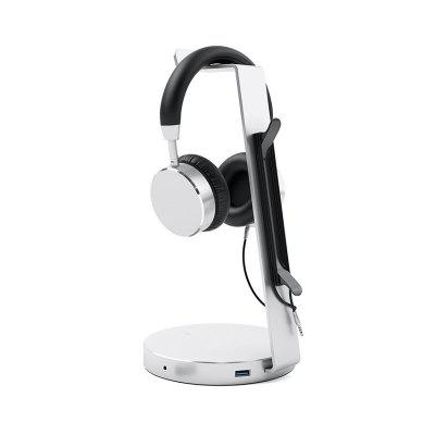 Headphone Bracket Hook Headset Display Stand + USB Interface Expansion