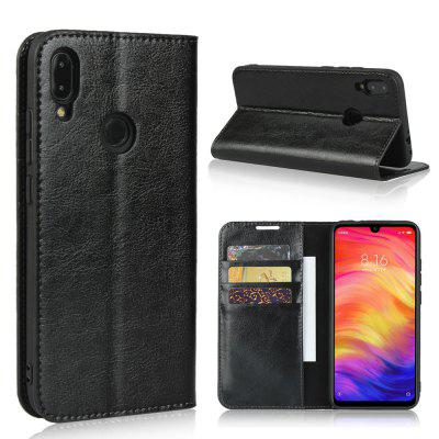 Genuine Leather Wallet Flip Phone Case for Xiaomi Redmi Note 7S