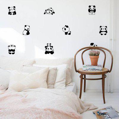 Cartoon schattige Panda muursticker DIY Vinyl Decals kamer Kids huisdecoratie