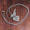 Personality Fashion Men's Loving Wings Hanging Necklace - SILVER