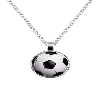 Football Necklace Men Street Personality Simple Necklace in Europe and America