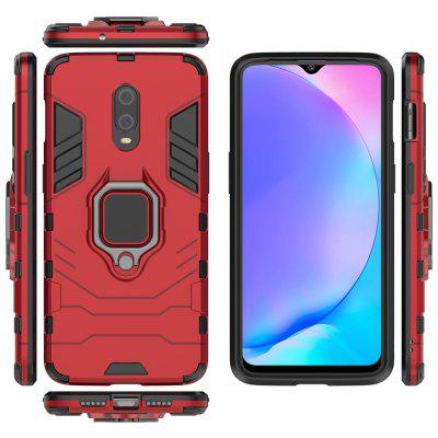 Buckle Frosted Drop Protection Shell PC Phone Case with Ring for OnePlus 7/6T