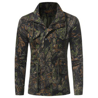 Camouflage Men Casual Multi-Pocket Jacket