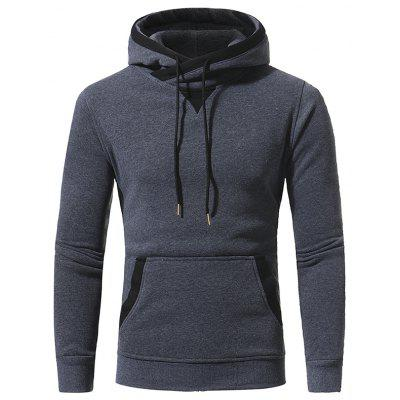 Patch Accessoires Hommes Casual Hooded Sweater Coat