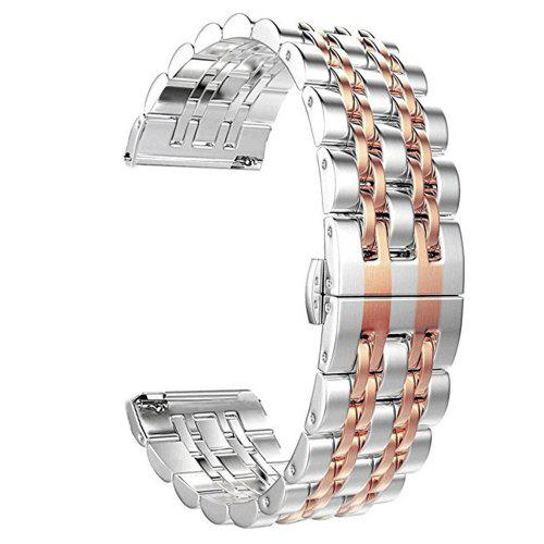 Seven Bead Solid Bracelet for Fitbit Versa/Versa Lite Stainless Steel Watch  Band