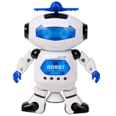 Electric 360 Degree Rotating Lighting Music Infrared Space Dancing Robot