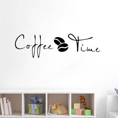 Koffiewinkel Venster Decoratieve Label Stickers Decoratie