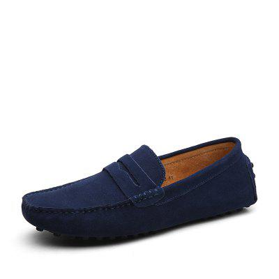 Men'S Leather British Leisure Footwear Bean Shoes