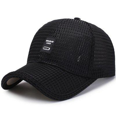 Woven Baseball Cap Breathable Mesh Cap + Adjustable for 56-60CM