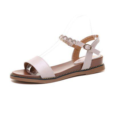 Summer Women Shoes Students Fairy Style Flat Bottom Sandals