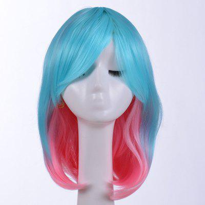 Cosplay Colorful Bob Haircut Wig