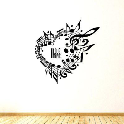 Música Charme e Amor Removível Home Decoration Wall Sticker