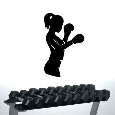 Girls Boxing Sports Logo Home Wall Decoration Sticker Removable