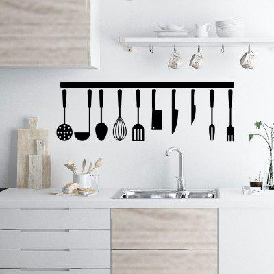 Kitchen Spoon Fork Sticker Home Kitchen Wall Decoration Sticker