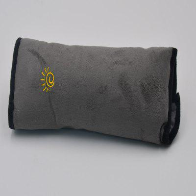 Sleeping Pillow for Children With Seat Belt Shoulder Protector Gray