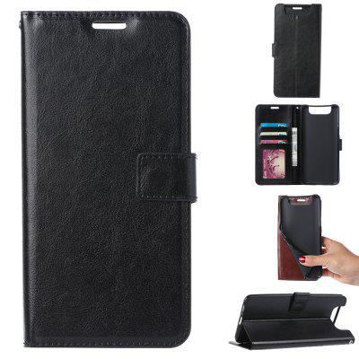 Mrnorthjoe Crazy Horse Leather Multifunction Phone Case for Samsung Galaxy A80
