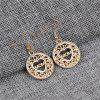Golden Hollow  Letter Earrings for European and American Fashion Ladies - GOLD